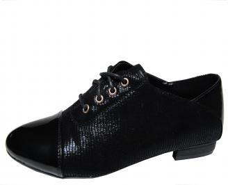 Дамски равни обувки еко кожа/лак черни BBRS-21314