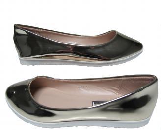 Дамски равни обувки еко кожа/лак златисти UJSZ-21317