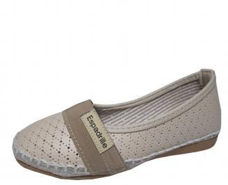 Дамски равни обувки еко кожа бежови FSIS-21513