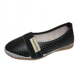Дамски равни обувки еко кожа черни XPCN-21514