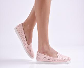 Дамски  равни обувки   еко кожа розови XMXZ-26967