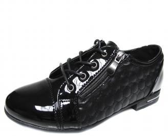 Дамски равни обувки еко кожа черни UVOW-19992