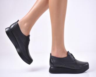 Дамски равни обувки естествена кожа черни JUQJ-1013695