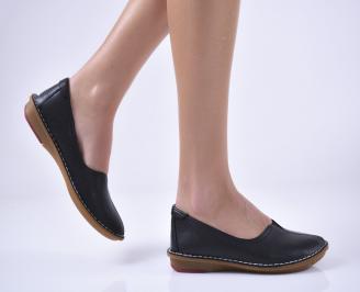 Дамски равни обувки естествена кожа черни PXXP-1013817