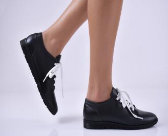 Дамски равни обувки естествена кожа черни RPCM-1014195