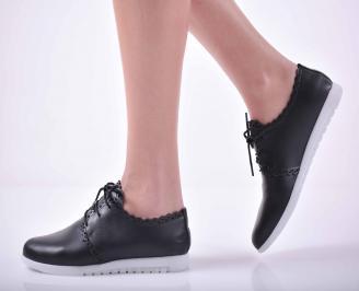Дамски равни обувки естествена кожа черни  AIPT-1015128