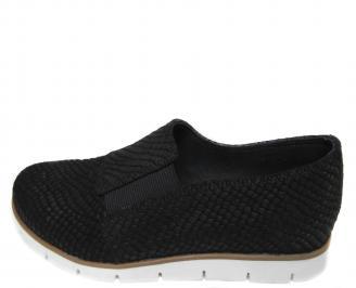 Дамски равни обувки естествена кожа черни KWRB-21091