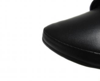 Дамски равни обувки естествена кожа черни QEGB-21240