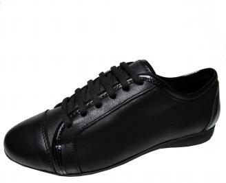 Дамски равни обувки естествена кожа черни WWYO-22289