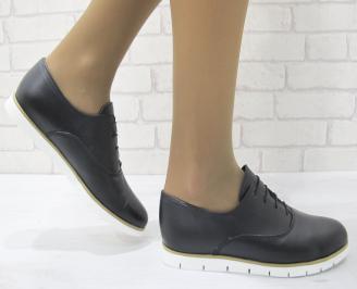 Дамски равни обувки естествена кожа черни FMGV-23138