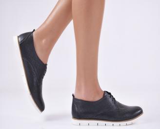 Дамски равни обувки естествена кожа черни BITD-23142