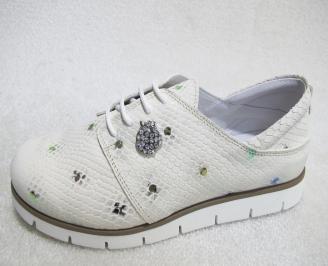 Дамски равни обувки естествена кожа бежови APFH-23157