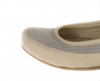 Дамски равни обувки естествена кожа бежови ONYG-16353