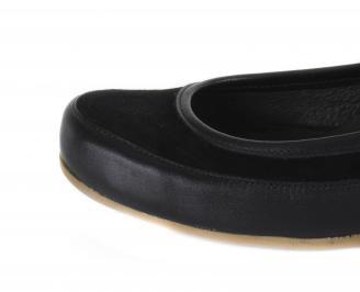 Дамски равни обувки естествена кожа черни XUNE-16354