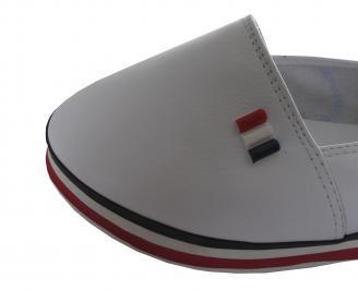 Дамски равни обувки естествена кожа бели LNVU-19594