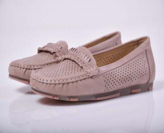 Дамски равни обувки пудра  XIOO-1015223