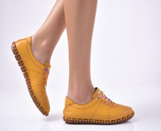Дамски  равни обувки жълти RNCK-1013541