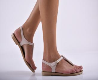 Дамски равни  сандали бежови YEQU-27297