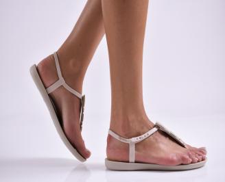 Дамски равни  сандали бежови BYCN-27308