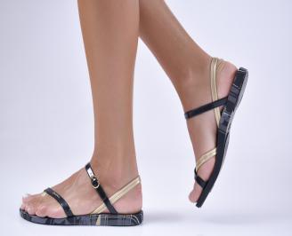 Дамски равни  сандали черни KUNF-1012385