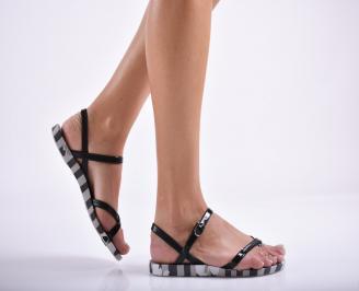 Дамски равни  сандали черни ZQNU-27288