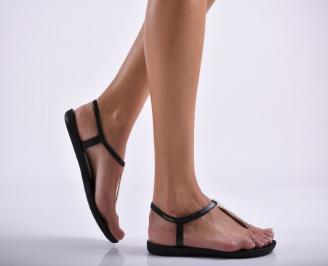 Дамски равни  сандали черни LNVT-27291