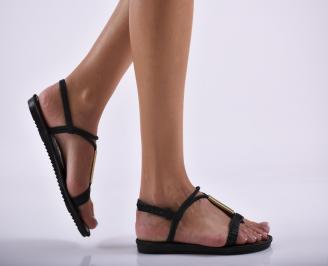 Дамски равни  сандали черни SGWT-27298