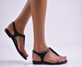 Дамски равни  сандали черни NVXT-27306