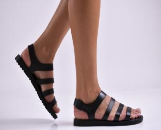Дамски равни  сандали черни VYGD-27329