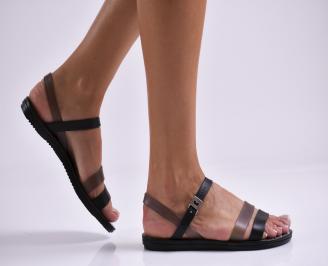 Дамски равни  сандали черни DORN-27331