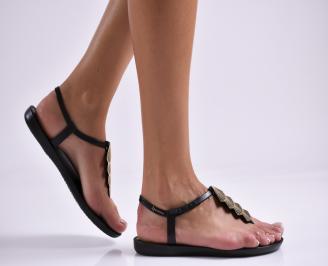 Дамски равни  сандали черни LDEK-27333