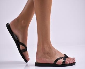 Дамски равни  сандали черни ZHEH-27336