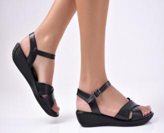 Дамски равни  сандали еко кожа черни XLFG-1012226