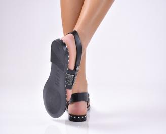 Дамски равни  сандали еко кожа черни TVDW-1012241