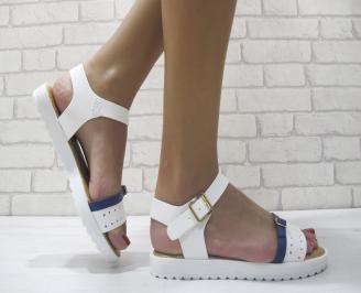 Дамски равни сандали еко кожа бели YTPF-23969