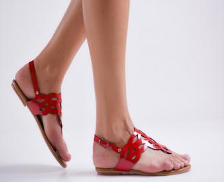 Дамски равни сандали еко кожа червени UZJT-23997