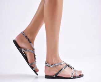 Дамски равни  сандали еко кожа черни DAPF-24032