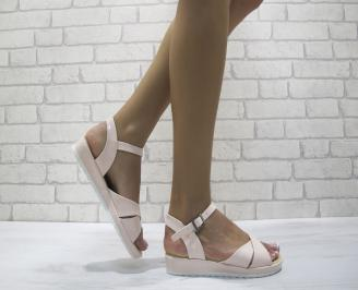 Дамски равни  сандали еко кожа розови PKHS-24154
