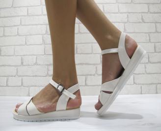 Дамски равни  сандали еко кожа/лак бежови DGHZ-24167