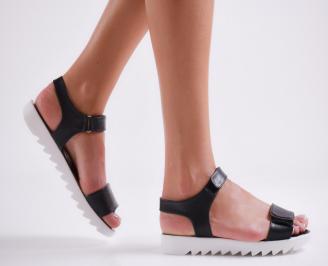 Дамски равни  сандали еко кожа  черни JLFS-24233