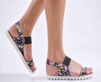 Дамски равни  сандали еко кожа шарени WBHF-24443