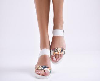 Дамски равни  сандали еко кожа шарени YLVS-24444