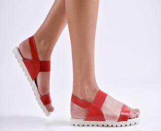Дамски равни  сандали еко кожа червени IGBX-24445