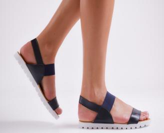 Дамски равни  сандали еко кожа тъмно сини FEPO-24446