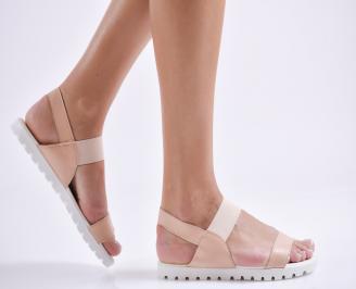 Дамски равни  сандали еко кожа златисти XGTB-24449