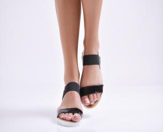 Дамски равни  сандали еко кожа черни TKBX-24453