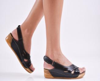 Дамски равни  сандали еко кожа черни TJGE-27563