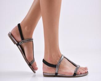 Дамски равни  сандали еко кожа сребристи CDMN-27620