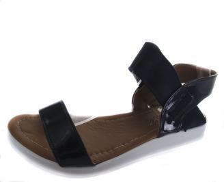 Дамски равни сандали еко кожа /лак тъмно сини RRTR-19646