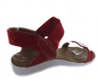 Дамски равни сандали еко кожа/лак червени UGMK-19654